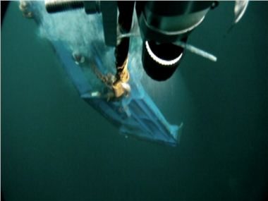 Camera attached to semi pelagic doors