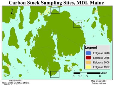 Sampling Sites around Mt. Desert Island, Maine